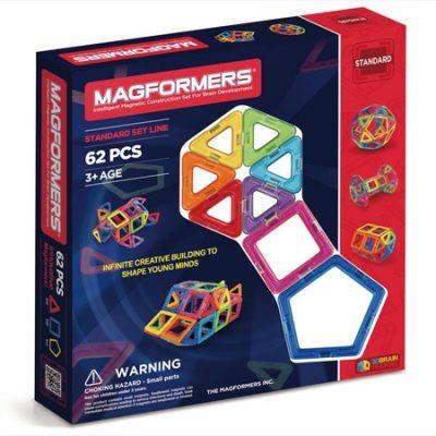Magformers 62 dele, magnetsæt til børn, magnetlegetøj