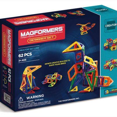 Magformers Designer 62 dele, magnetlegetøj, altid gode tilbud på legetøj til børn