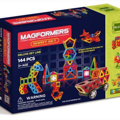 Magformers Smart Sæt 144 dele, magnetlegetøj til børn, altid gode tilbud på legetøj