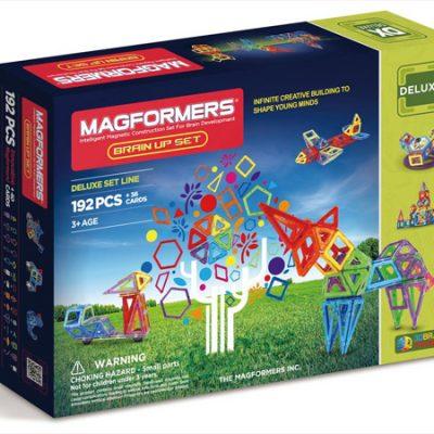Magformers Brain Up 192 dele, magnetlegetøj til børn, magnetsæt