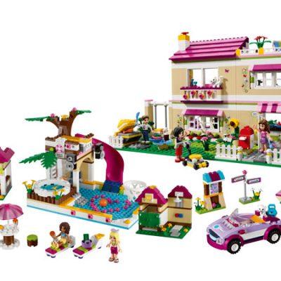 LEGO Friends Olivias villa, pool og sportsvogn, gode tilbud på legetøj til børn, stort udvalg af lego