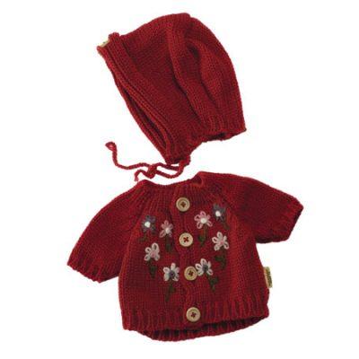 Rubens Barn baby cardigan og hue rød