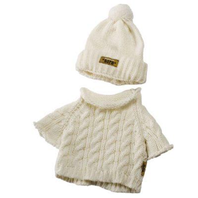 Rubens Baby Striktrøje og hue hvid, rubens barn