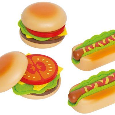Hape Hamburgers & Hotdogs, stort udvalg af hape legetøj, kvalitets trælegetøj