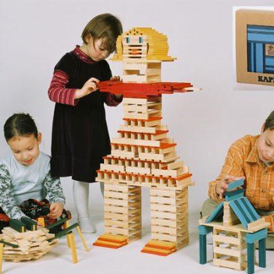 KAPLA sæt blå 40 stk. Kvalitets trælegetøj til børn