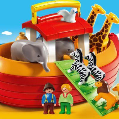 Playmobil 1.2.3 Transportabel Noahs Ark, kvalitets byggesæt til børn