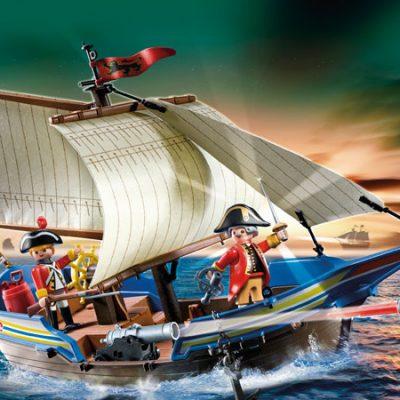 Playmobil Rødfrakkekrigsskib, byggesæt og legetøj til børn, altid gode tilbud på legetøj