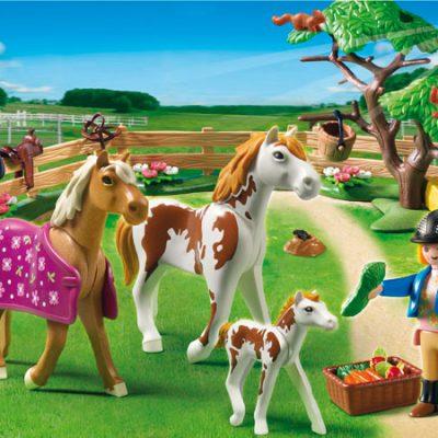 Playmobil Fold med heste og føl, legetøj til børn. altid gode tilbud