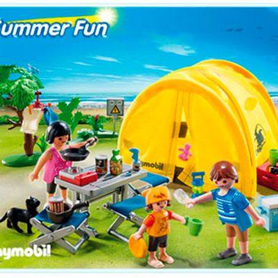 Playmobil Campingferie med telt, legetøj til børn, altid gode tilbud
