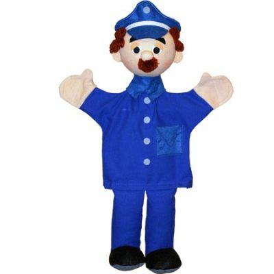 Trullala Hånddukke Politimand, legetøj til børn, dukker og tilbehør