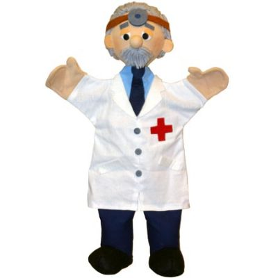 Trullala Hånddukke Læge, dukker til børn