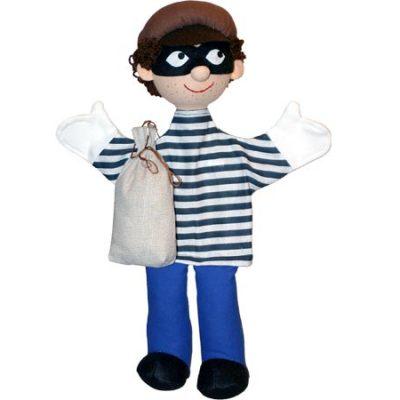 Trullala Hånddukke Røver, dukker til børn, altid gode tilbud på legetøj