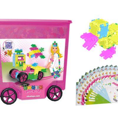 Clics Glitter Box 800 stk