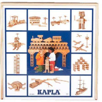 KAPLA sæt 100 stk, trælegetøj til børn, kvalitets legetøj