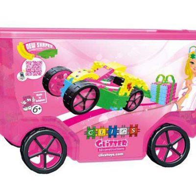 Clics Glitter Rollerbox 400 stk, byggesæt tilbørn, altid gode tilbud på legetøj