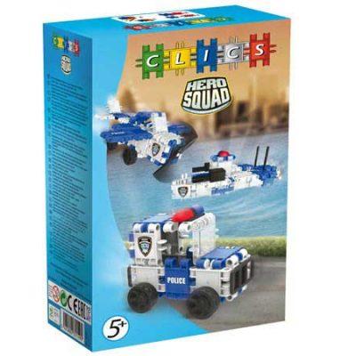 Clics Politi 54 stk, byggesæt til børn, altid gode tilbud på legetøj