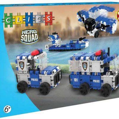 Clics Politi 135 stk, byggesæt til børn, altid gode tilbud på legetøj