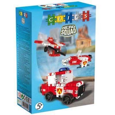 Clics Brandvæsen 51 stk, byggesæt til børn, altid gode tilbud på legetøj
