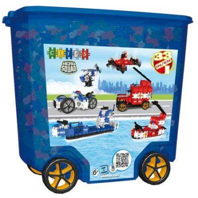 Clics Politi og Brandvæsen 675 stk, byggesæt til børn, altid gode tilbud på legetøj