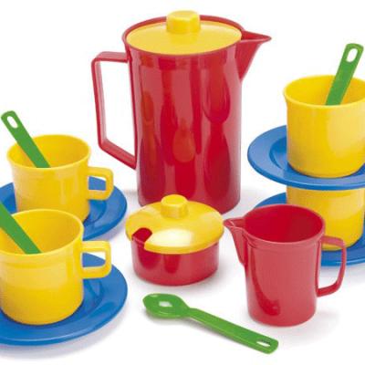 DANTOY Kaffestel 17 dele, sandlegetøj til børn fra dantoy