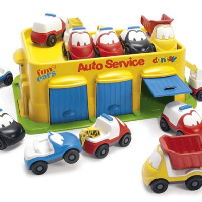 DANTOY Autoværksted fun cars med 12 biler