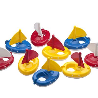 Aquaplay Sejlbåde 9 stk., vandlegetøj til børn,