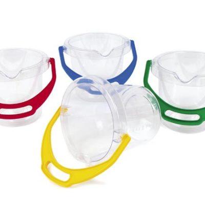 DANTOY Spand gennemsigtig, klar, kvalitets legetøj fra Dantoy, sandlegetøj, udelegetøj