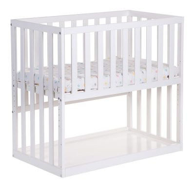 BSCNWI.1-abeleg.dk-Bedside Crib Miniseng Hvid
