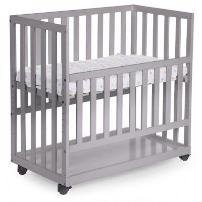 SB-BSCNSG.1-abeleg.dk-Bedside Crib Miniseng Grå
