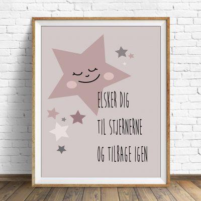 Plakat Star Girl Rose str. A4