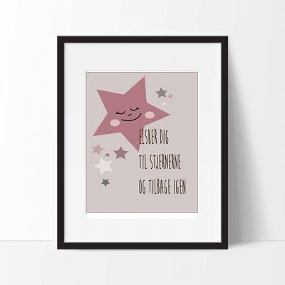 Plakat Star Girl Rose str. A3, plakater til børneværelset
