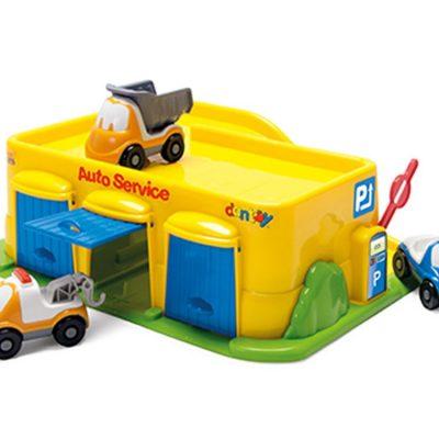 garage med 3 biler Dantoy