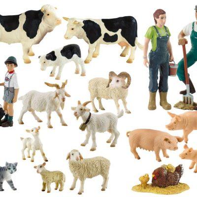 bondegårdsdyr fra bully, figurer