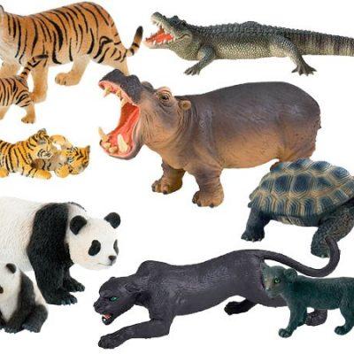 Vilde dyr, figurer fra Bully 10 stk. håndmalede figurer