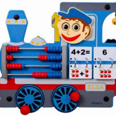 Legevæg lokomotiv, legetøj til væggen