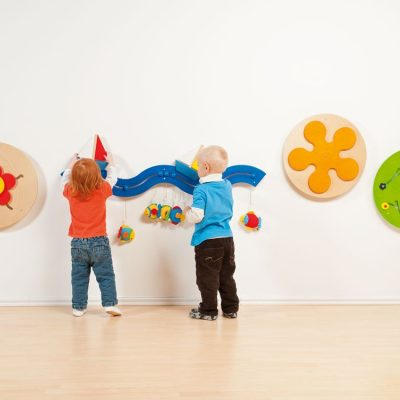 Legevæg 4 stk., legetøj til væggen, legepaneler til børn