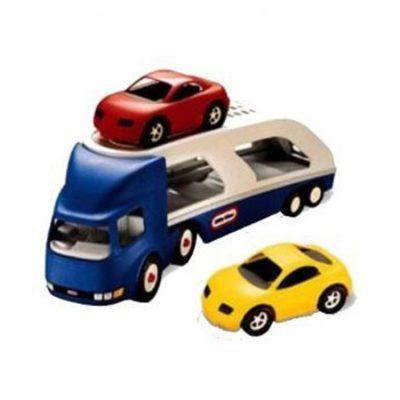 Little Tikes Autotransporter med 2 biler, legetøj til børn altid gode tilbud