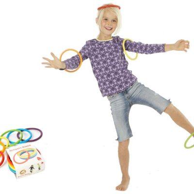 Aktivitetsringe 6 stk. 6 farver, motoriklegetøj, motorik ringe til børn