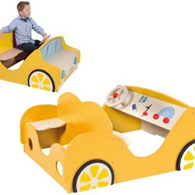 Legebil gul, legemøbel til børn