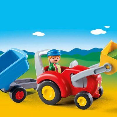 Playmobil 1.2.3 Traktor med Vogn