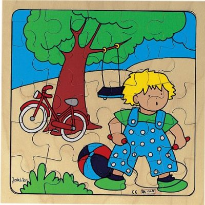 Puslespil træ Lege Ude 25 brikker, puslespil til børn