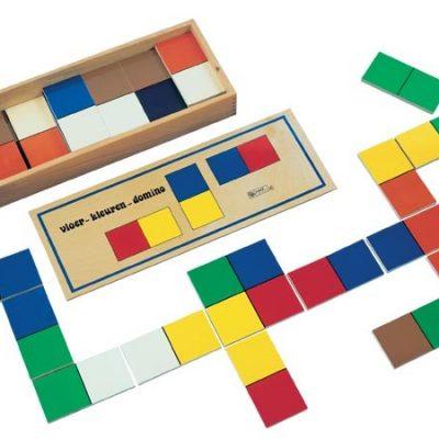 Domino gulv farver, spil til børn