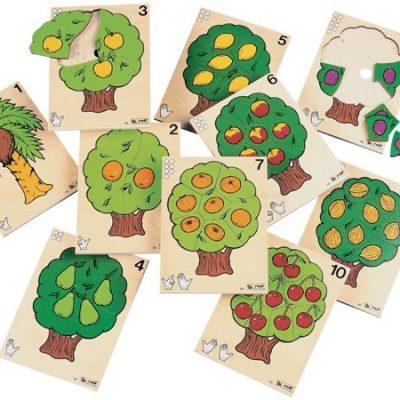 Tælletræ incl. kasse, spil til børn