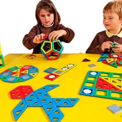 Polydron Magnetsæt 184 dele, magnetlegetøj til børn