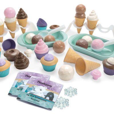 DANTOY Cupcakes og is-sæt 56 dele