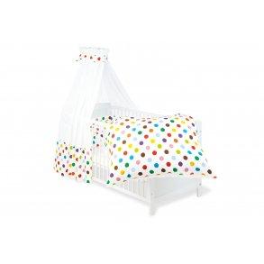 Pinolino Textile Udstyr til barneseng, 'Dots', 4 dele