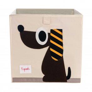 Opbevaringskasse fra 3 Sprouts med sødt hunde motiv