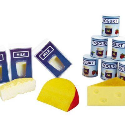 Mælk yougurt og ost