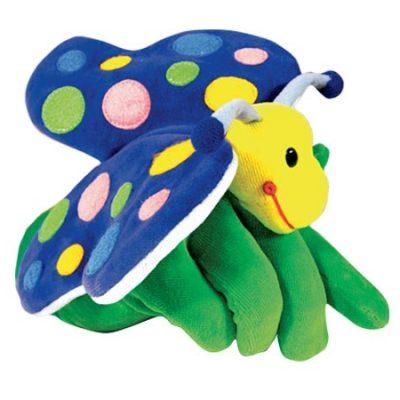 Hånddukke Sommerfugl 22 cm