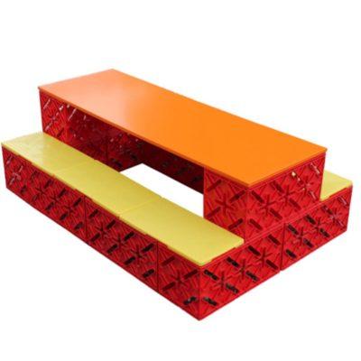 X Block lavt bord
